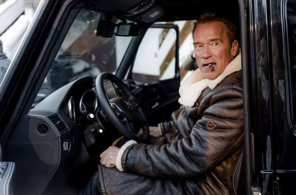 Arnold Schwarzenegger unveils the electric Mercedes-Benz G-Class.