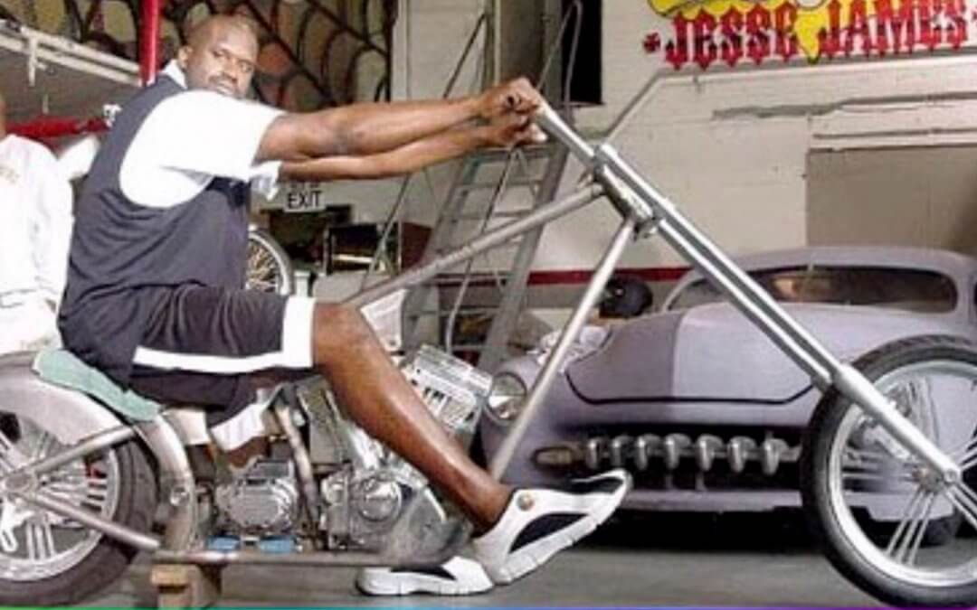 Anyone want to buy a chopper made just for Shaq?